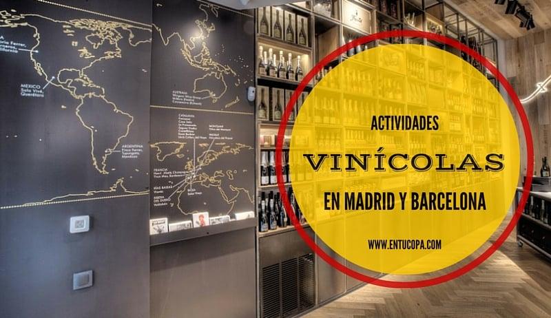 Actividades enogastronómicas en Madrid y Barcelona