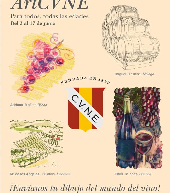 """Concurso de dibujo """"ArtCVNE: un recorrido por el arte del vino"""""""